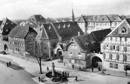 Hospitalplatz um 1950
