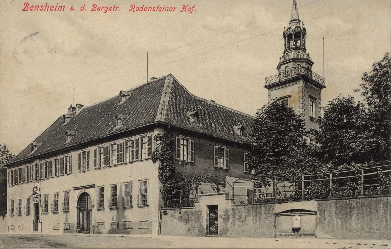 Rodensteinerhof 1910