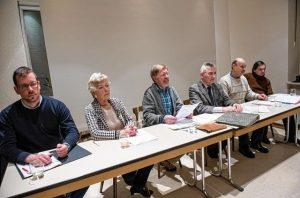 Der Vorstand des Museumsvereins: Stefan Hebenstreit, Adolphine in der Strodt, Roland Zeising, Manfred Berg, Rudolf Schmitt und Matthias Zahn (v.l.). © Lotz